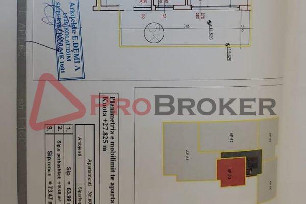 Apartament 1+1 | Ne shitje | Rr. Frederik Shiroka / Prane Bllokut te Ambasadave